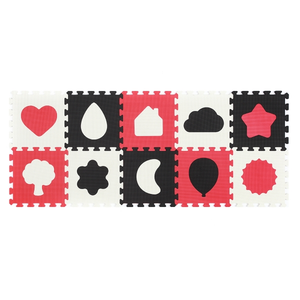 BabyOno Penové puzzle - Tvary- 10 ks 395/01