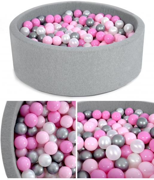NELLYS Bazen pre děti 90x30cm + 200 balónků - pipi pink