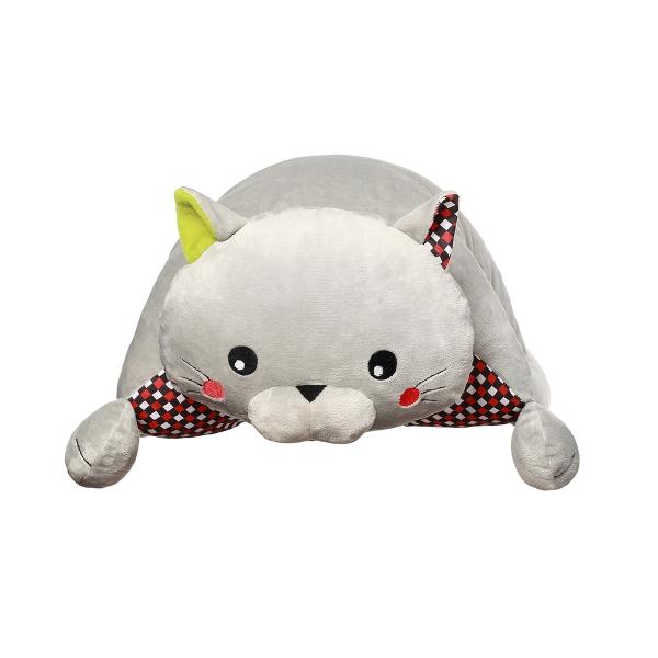BabyOno Plyšová hračka Mačka Bruno, šedá, 44x17x44 cm