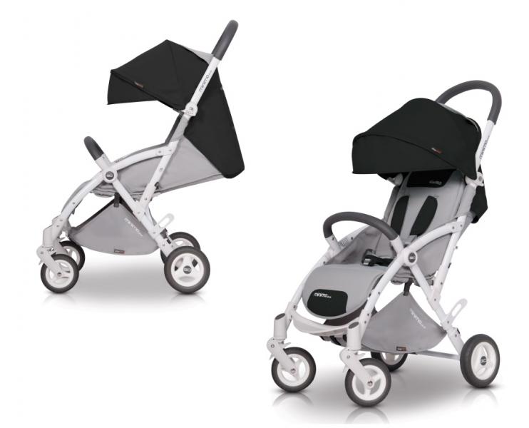 EASYGO Ultraľahký modný kočík Minima Plus 2019 - carbon