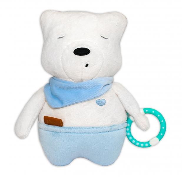 Szumisie Šumiaci maznáčik Medvedík Simon, 25 cm - modrý/bežová