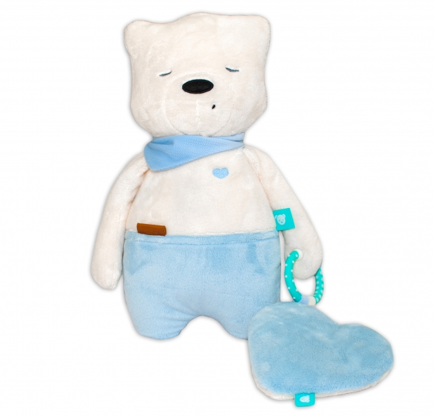 Szumisie Šumiaci maznáčik Medvedík Sam, 34 cm - modrý/bežová