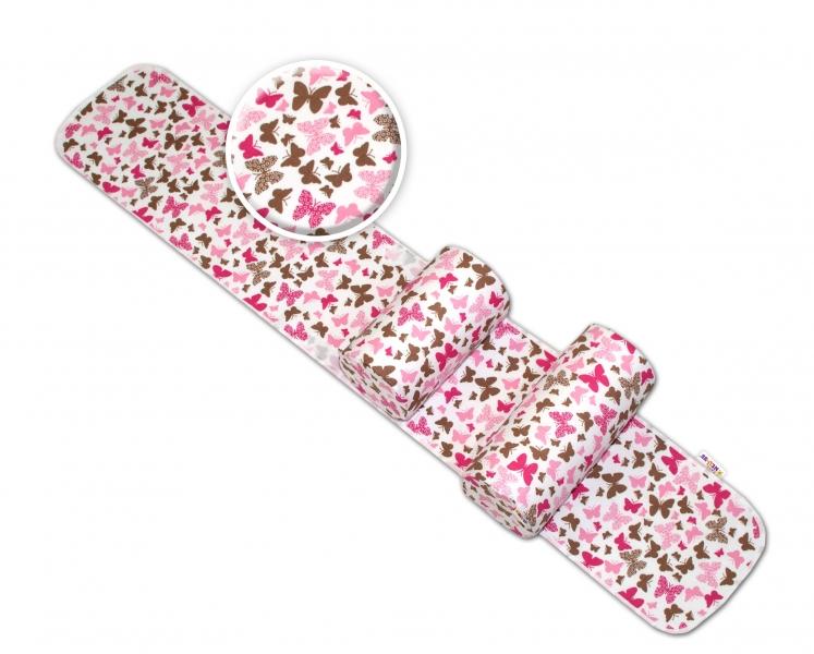Polohovacie valčeky Baby Nellys pre bábätko, Motýliky - ružoví