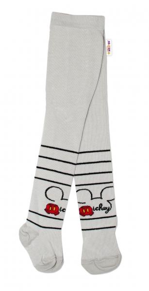 Bavlnené pančucháčky Disney Mickey - sivé, veľ. 62/74