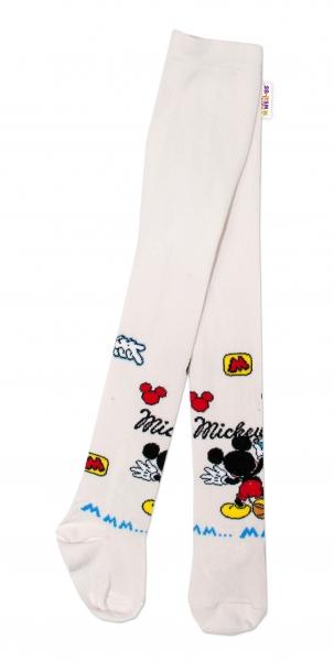 Bavlnené pančucháčky Disney Mickey - smotanové, veľ. 62/74