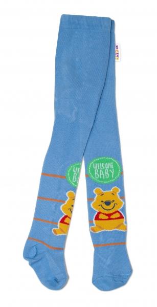 Bavlnené pančucháčky Disney Medvedík Pú Baby - modré, veľ. 62/74