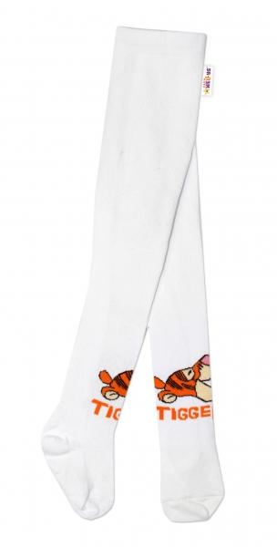 Bavlnené pančucháčky Disney Tygrík - biele, veľ. 62/74
