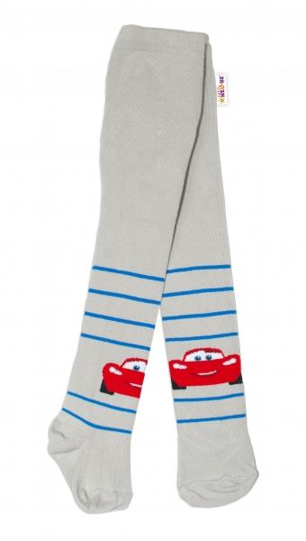 Bavlnené pančucháčky Disney Cars - sivé, veľ. 62/74