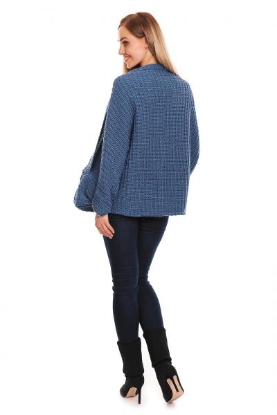 Voľný tehotenský kardigan - jeans