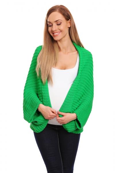 Be Maamaa Voľný tehotenský kardigan - zelený-#Velikosti těh. moda;UNI