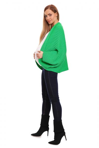 Voľný tehotenský kardigan - zelený