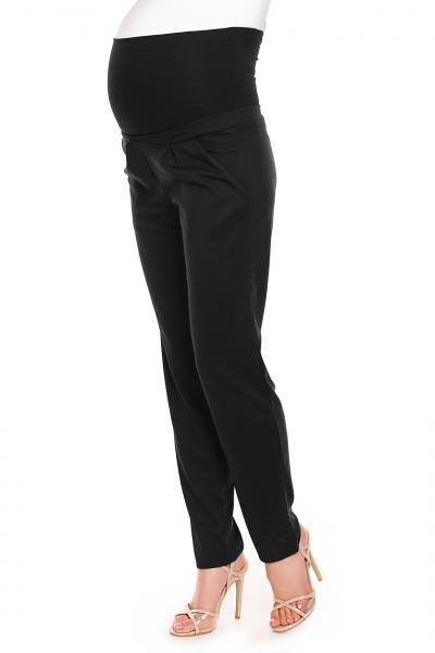 Tehotenské nohavice s pružným, vysokým pásom - čierne veľ. S/M