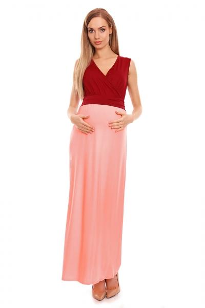 400cc3dd9a1a Be Maamaa Tehotenské letné šaty - bordo růžové