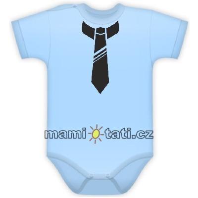 Body Kr. rukáv s potlačou kravaty - sv. modré