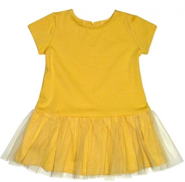 Dojčenské šaty K-Baby - horčicove, veľ. 74