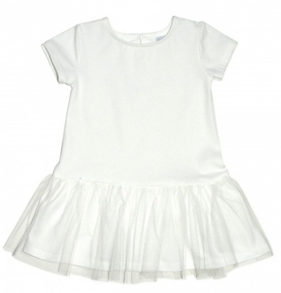 Dojčenské šaty K-Baby - smotanová