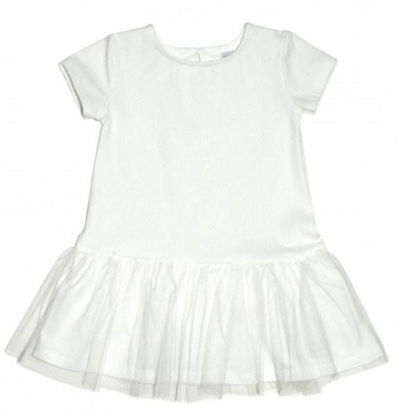 Dojčenské šaty K-Baby - smotanová, veeľ. 98-98 (24-36m)