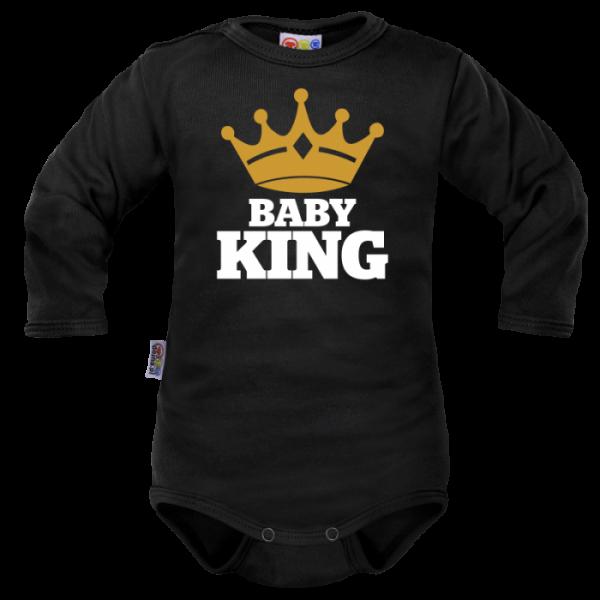 Body dlhý rukáv Dejna Baby King - čierne
