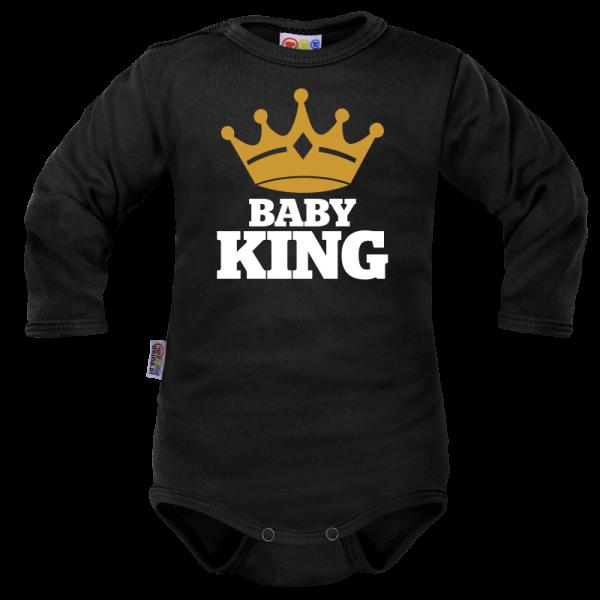 Body dlhý rukáv Dejna Baby King - čierne, veľ. 74