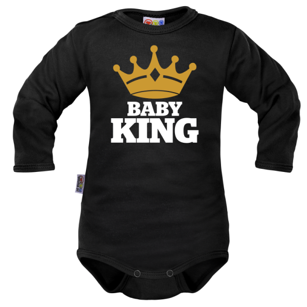 Body dlhý rukáv Dejna Baby King - čierne, veľ. 80