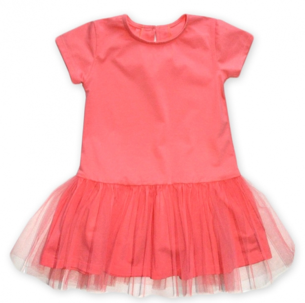Dojčenské šaty K-Baby - lososové, veľ. 80-80 (9-12m)