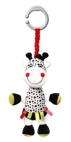 BabyOno Závesná plyšová hračka s vibráciou Žirafa Adelle, 36 cm