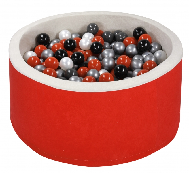 NELLYS Bazen pre děti 90x30cm + 200 balónků - červený