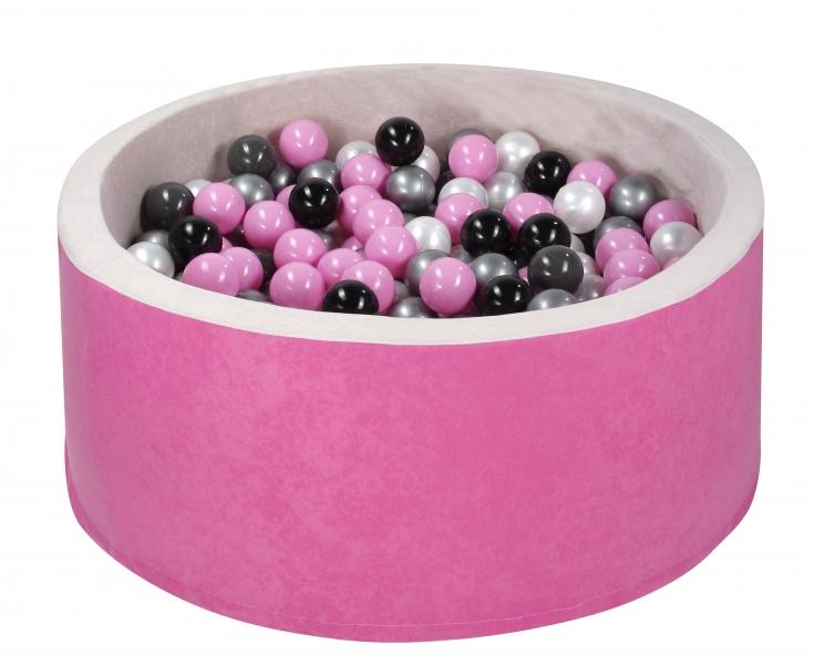 NELLYS Bazen pre děti 90x30cm + 200 balónků - růžový