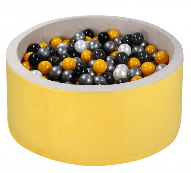 NELLYS Bazen pre děti 90x30cm + 200 balónků - žltý