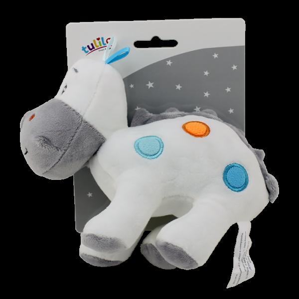 Plyšová hračka Tulilo Dino, 20 cm - biely