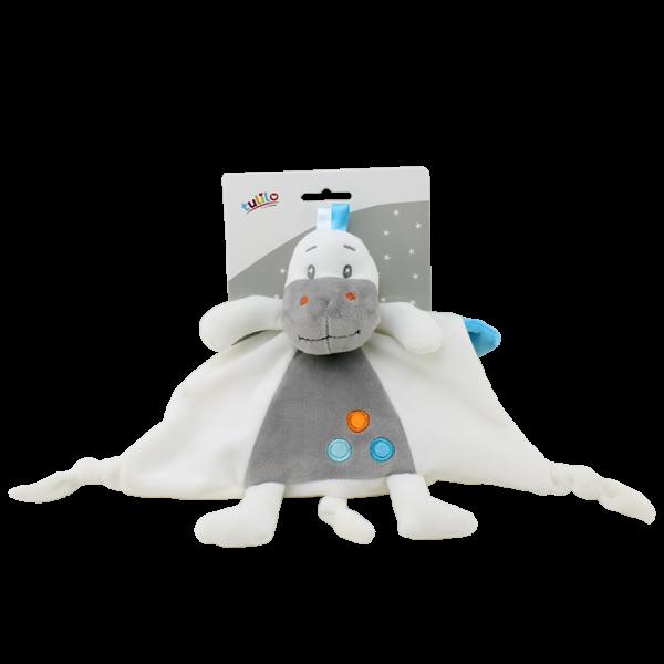 Přítulníček, maznáčik Tulilo Dino, 25x25 cm - biely