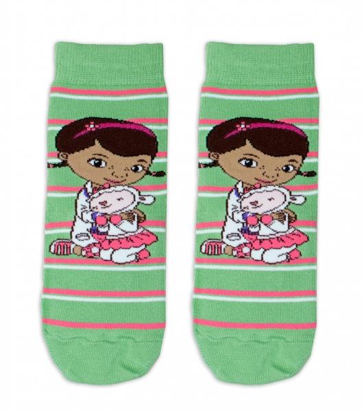 Bavlnené ponožky Disney Doc McStuffins - zelené, veľ. 27/30