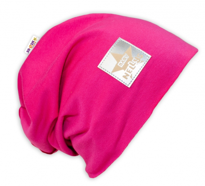 Bavlnená čiapočka Baby Nellys ® - sýto ružová