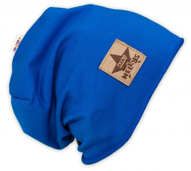Bavlnená čiapočka Baby Nellys ® - tm. modrá