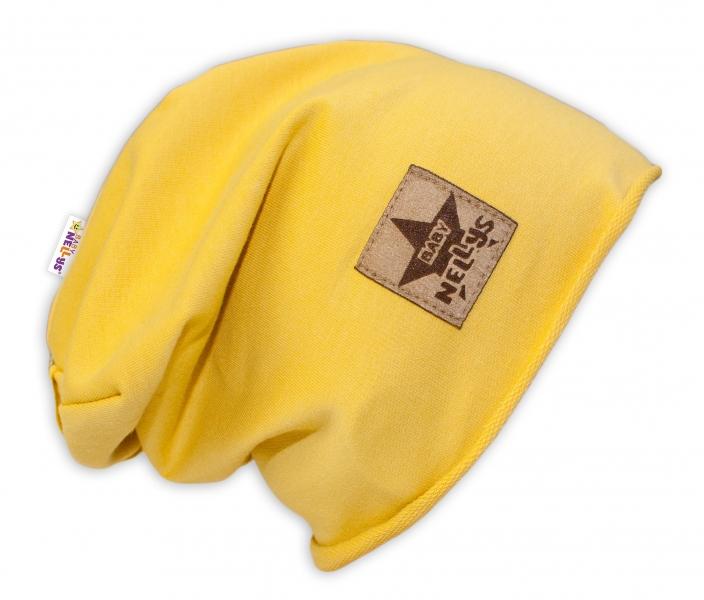 Bavlnená čiapočka Baby Nellys ® - žltá