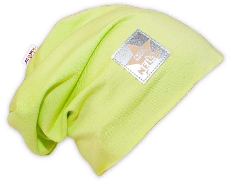 Bavlnená čiapočka Baby Nellys ® - limetka