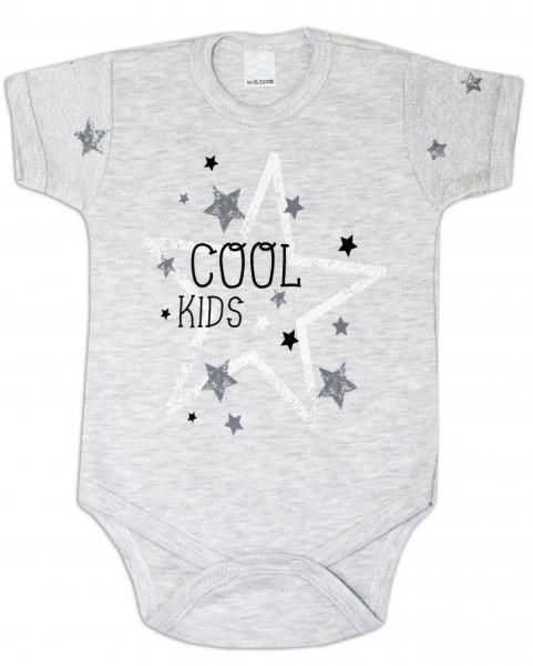 Body krátky rukáv ZBaby, Cool Baby - sivé, veľ. 80-80 (9-12m)