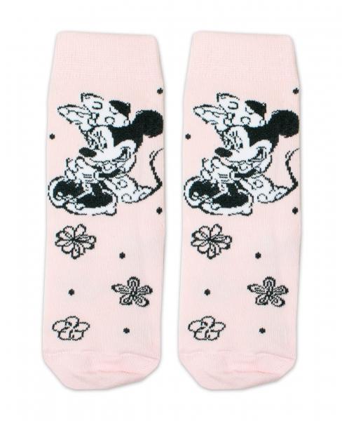 Bavlnené ponožky Disney Minnie - sv. ružové, veľ. 27/30