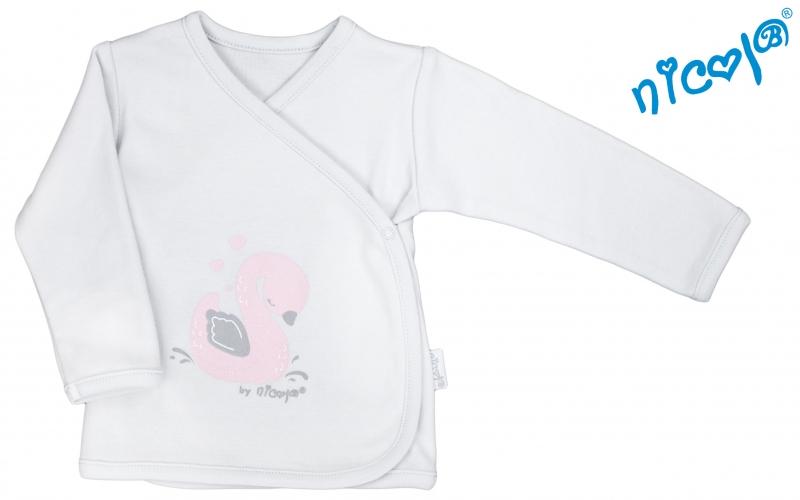 Novorodenecká košieľka Nicol, Baletka - zapínanie bokom - sivá, veľ. 56