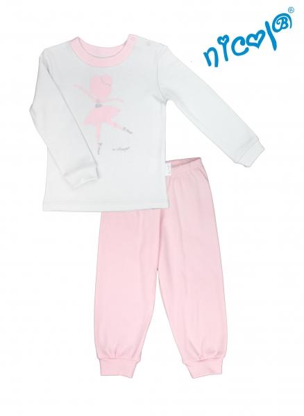 Detské pyžamo Nicol, Baletka - sivo/ružové, veľ. 98-98 (24-36m)