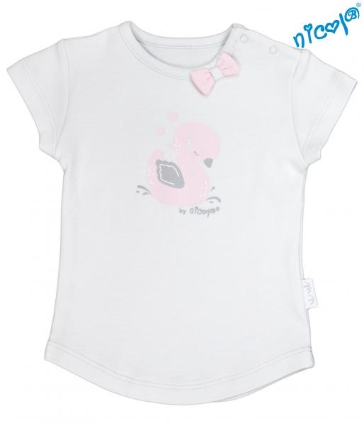 Bavlnené tričko Nicol, Baletka - krátky rukáv, sivé, veľ. 68