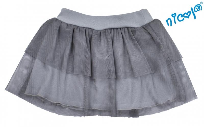 Dojčenská sukne Nicol, Baletka - sivá, veľ. 128-#Velikost koj. oblečení;128