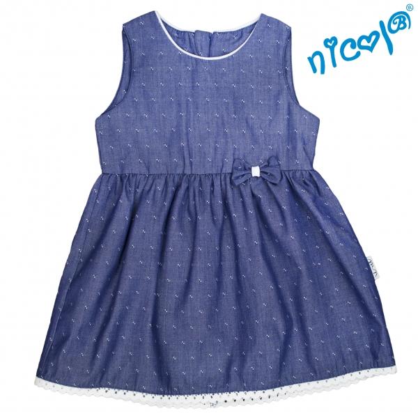 Dojčenské šaty Nicol, Baletka - granátové, veľ. 62