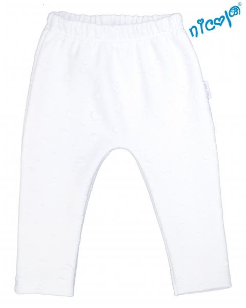 Detské žakárové tepláky Nicol  Baletka - bílé, veľ. 62-62 (2-3m)