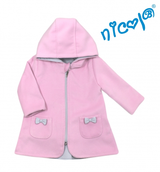 Dětský kabátek/ bundička Nicol, Baletka - ružová, veľ. 80-80 (9-12m)