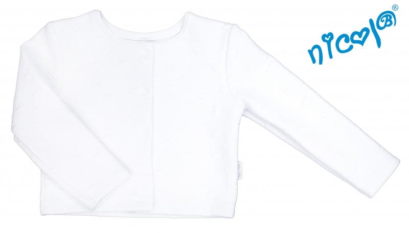 Dojčenské sako/bolerko Nicol žákarové Baletka - bílé, veľ. 98-110
