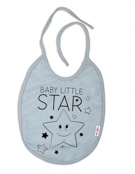 Podbradník Baby Nellys veľký Baby Little Star - sivý
