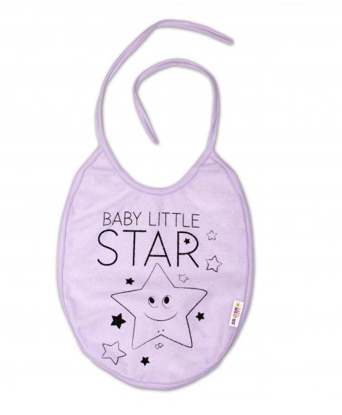 Podbradník Baby Nellys veľký Baby Little Star - lila