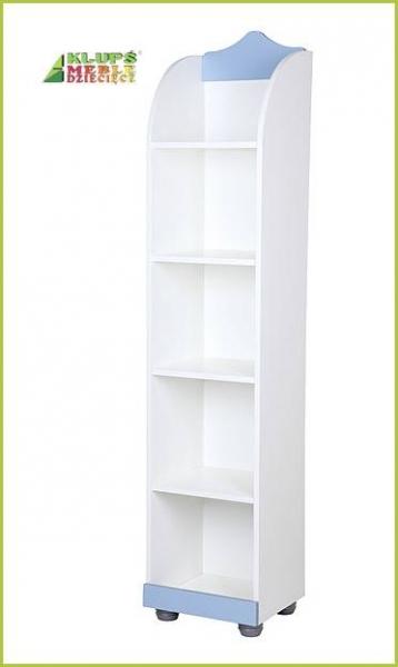 Regál Princ, biela / modrá - rozmer: 184x42x52