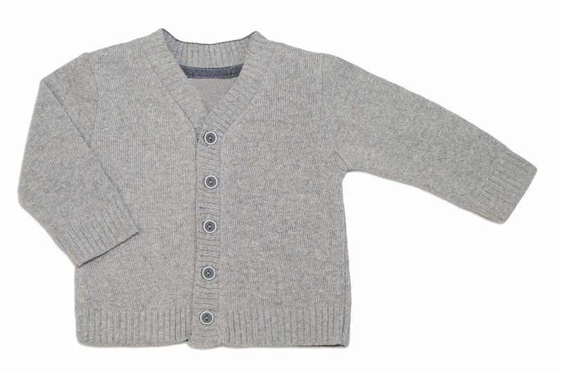 Dojčenský svetrík K-Baby - sv. sivý, vel. 74